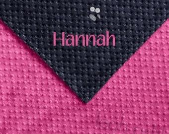 Baby Blanket - Hot Pink MINKY Dot, Navy MINKY Dot - Camille - BB1