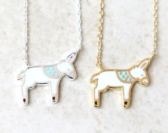 Donkey Necklace / choose your color/ gold and silver
