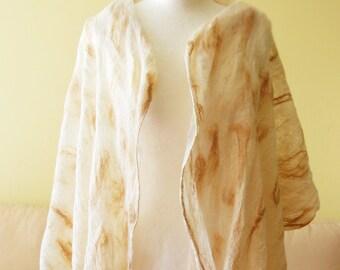 Long meditation YOGA shawl - softest wool and glossy silk - choose you color