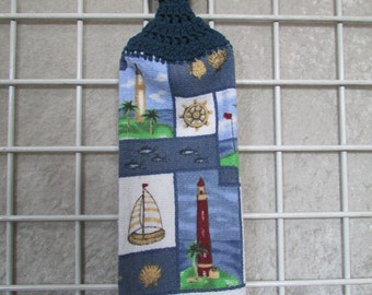 Lighthouse  Button-On Towel