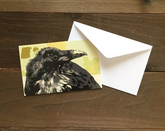 Tuuluuwaq: raven in Alaska greeting card