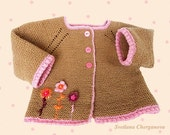 Knitted baby cardigan, wool baby sweater,newborn cardigan, baby sweater, knitted baby jacket, , READY TO SHIP