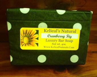 Cranberry Fig Luxury Bar Soap