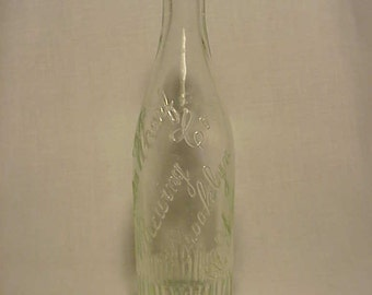 c1900 India Wharf Brewing Co. Brooklyn, N.Y. , Clear Crown Top Blown Glass Breweriana Beer Bottle