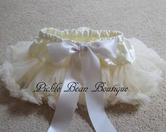 Ivory Pettiskirt, 0-12 mo, Ivory Tutu Skirt, Baby Girls Tutu, Baby Newborn Infant Petti Skirt