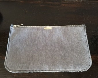 Gray Pouch 5 1/2 x9  inches  (cow hair)