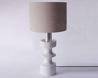 Rare Large White Steuler Table Lamp Continua - 1960s