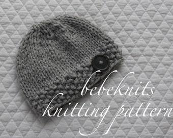 Bebeknits Quick Knit Baby Hat Knitting Pattern