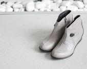 TEA - Gray - FREE SHIPPING Handmade Leather Women Bootie