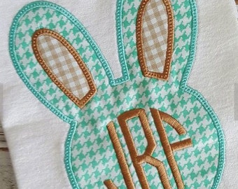 Easter Bunny Applique Embroidery Design 4x4 5x7 6x10