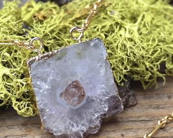 Unique Amethyst Magnetic Clasp Necklace
