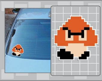 GOOMBA No. 1 from Super Mario Bros. Vinyl Decal Video Game NES Sticker