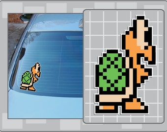 Green KOOPA TROOPA No. 3 vinyl decal from Super Mario Bros. 3 Sticker for almost anything!