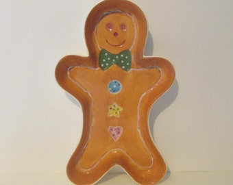 Home Interiors Gingerbread Boy Dish Baking Cookie Mold