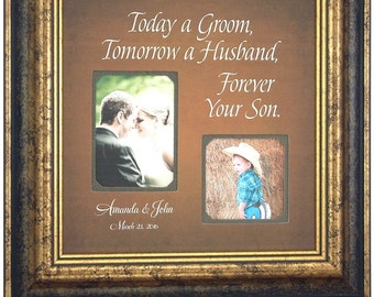 Personalized Father of the Bride Gift, Wedding, TODAY A GROOM, Father of the Bride, Thank you, Personalized Picture Frame, 16 X 16
