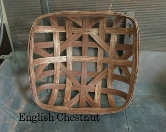 "15"" x 15"" Reproduction NC Style Tobacco Basket- Made to order (Please read full description)"