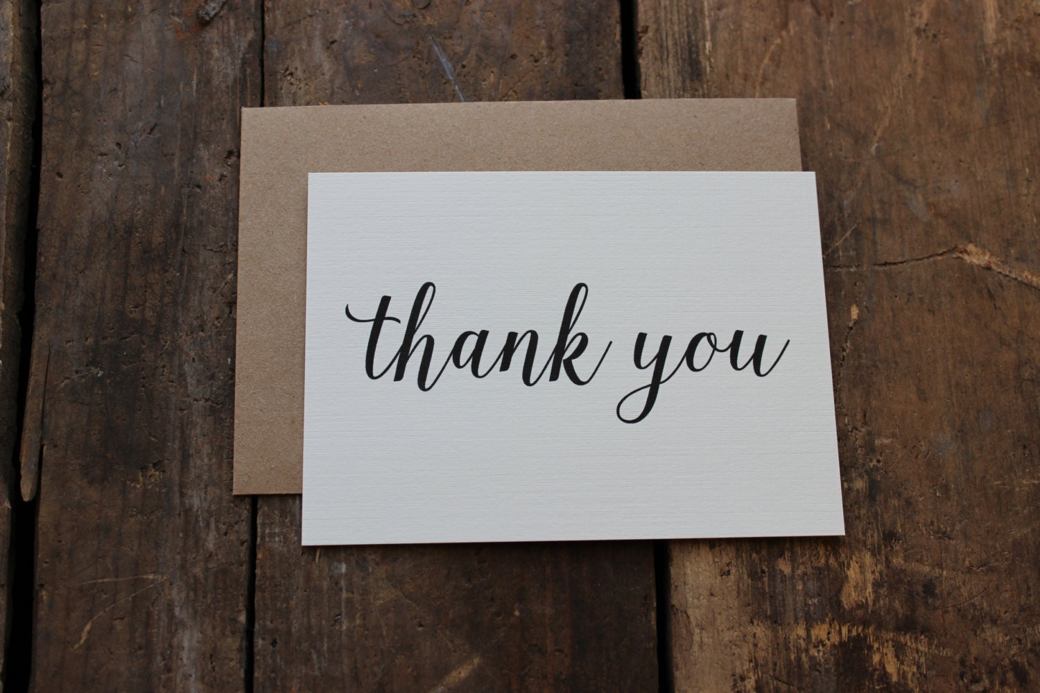 Modern Calligraphy Thank You Cards With Envelopes Wedding