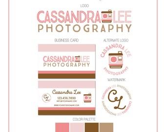 Branding Set - Vintage Camera Photo - Logos, Watermark, Business Card - Customizable - Predesigned - Option to retire design