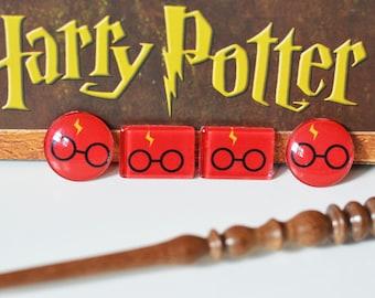 Harry Potter Inspired Magnets, Set of 4