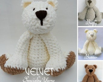 Crochet Teddy Bear SUPER SOFT Suede