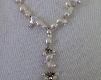 Freshwater Pearl Necklace with Sterling Silver