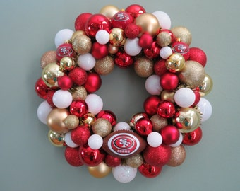 SAN FRANCISCO 49ers Wreath Ornament Wreath Football Wreath Shatterproof