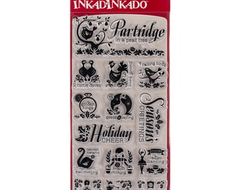 Clear Christmas Stamps from Inkadinkado - 12 Days of Christmas