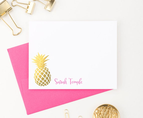 Gorgeous pineapple stationery
