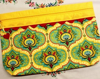 LOTS2LUV Bright Lotus  Cross Stitch Embroidery Project Bag