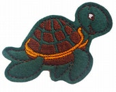 Turtle - felt toy with magnetic layer on the back