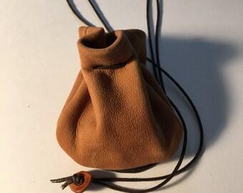 Leather Pouch Bag - Nubuck Leather - Neck Pouch - Medicine Bag - Sage Sack - Shirlbcreationstoo