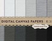 Canvas/Burlap Digital Papers No. 23 - Black and Grey