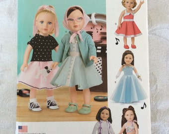 New Simplicity Pattern 0669 also sold as Simplicity 8072 for 18 Inch Dolls