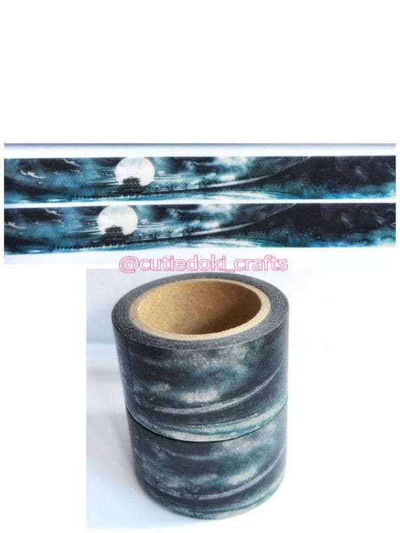 Ancient Night Scenery Washi