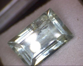Stunning Emerald Cut Aquador (aqua heliodor) Gemstone