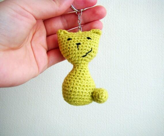 Crochet keychain amigurumi cat thank you gift ideas cat