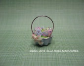 12th scale miniature Easter Egg Basket