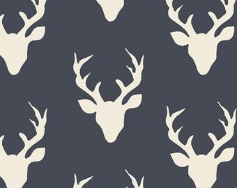 KNIT, Buck Forest Twilight, Hello Bear Collection, Bonnie Christine, Art Gallery Fabrics, Stretchy Fabric