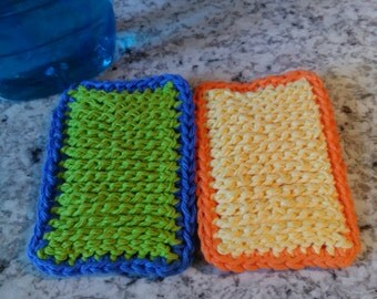 Set of Two Simply The Best Hand Crochet Kitchen Sponges