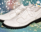 White '90s Men's Creeper Shoes Size 11 .5