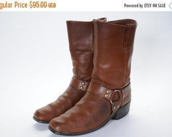 30% OFF 1960's Men's Harness Boots Size 8 .5