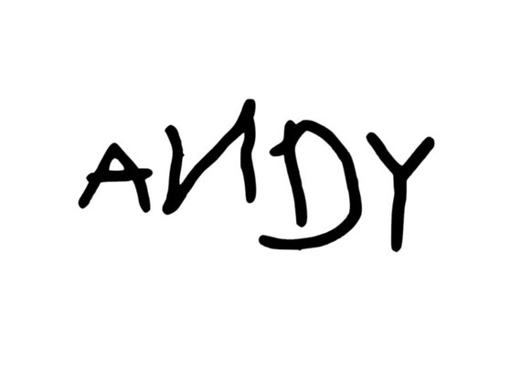 Andy Toy Story Shoe Decal Any Color Any Size By
