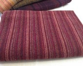 Rich Red Stripe,  Wool Fabric for Rug Hooking and Appliqué, One yard, Half Yard, Quarter Yard, W152, Ruby Red, Deep Red, Christmas Red