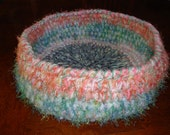 Fuzzy Pastel Crochet Cat/Pet Bed or Decorative Bowl