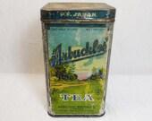 Arbuckles PF Japan Tea Tin Original 1920s Hinged Lid Litho