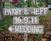 Wedding Sign Rustic With names. Old Wood Reclaimed Signs Hand Painted Wooden Signs Eco Friendly Wedding Decorations Outdoor Weddings