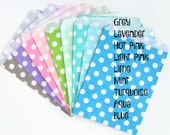 "Treat Bags - 5"" x 7"" - Polka Dots (food safe) Lavender w/white dots"