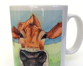 Silly Moo- 'Clover' 10 oz ceramic mug