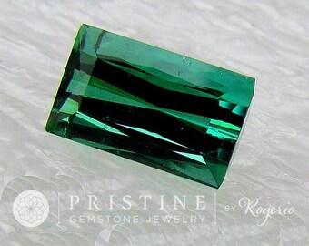 Indicolite Tourmaline Rectangle Shape Fine Quality October Birthstone for Fine Gemstone Ring or Pendant