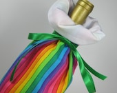 Rainbow Stripes Class Wrap Wine Gift Bag